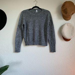 Crew neck woven sweater